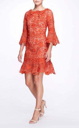 Marchesa Guipure Lace Dress