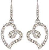Carolee Open Pave Heart Dangle Earrings