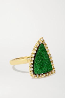 Kimberly Mcdonald McDonald - 18-karat Gold, Uvarovite Garnet And Diamond Ring - 6 1/2