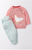 Toddler Girl's Mini Boden Sandpiper Knit Sweater & Pants Set