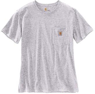 Carhartt WK87 Workwear Pocket Short Sleeve T-Shirt (Gull Gray Snow Heather) Women's T Shirt