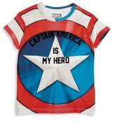 Eleven Paris Little Boy's & Boy's 'Captain America Is My Hero' Tee