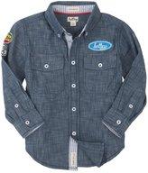 Hatley Button Down Shirt (Toddler/Kid) - Big Rig Trucks-7