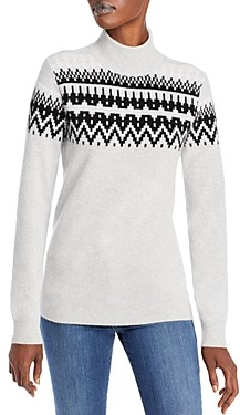 C by Bloomingdale's Fair Isle Cashmere Sweater - 100% Exclusive