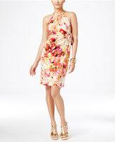 Thalia Sodi Printed Halter Faux-Wrap Dress, Only at Macy's