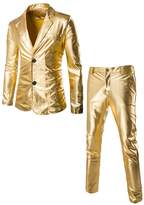 DOOXIUNDI Men's Slim Fit Metallic Color Performance Suit (XL, )
