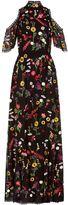 Alice + Olivia Adella Embroidered Gown