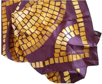 Louis Vuitton Purple Silk Scarves