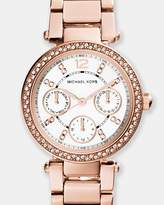 Michael Kors Mini Parker Rose Gold-Tone Chronograph Watch