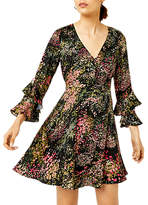 Warehouse Wild Floral Dress, Black Pattern