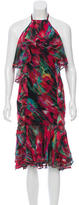 Jason Wu Silk Printed Dress w/ Tags