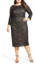 Alex Evenings Plus Size Women's Embellished Waist Sheath Dress