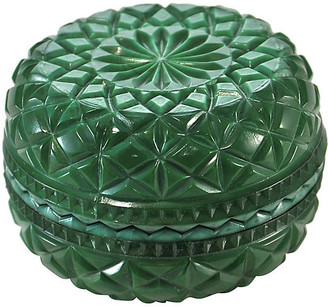 One Kings Lane Vintage Malachite Glass Star Quilted Box - Design Line