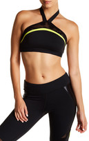 Trina Turk Lace & Shine Halter Sports Bra