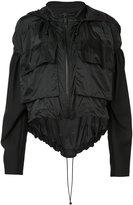 Vera Wang draped windbreaker - women - Nylon/Cotton - XS/S