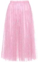 Valentino Cherry Blossom Lace Midi Skirt