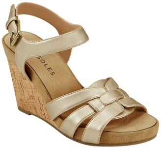 Aerosoles Pennsville Cork Wedge Sandal