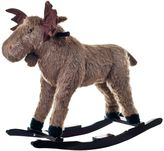 Happy Trails Ride-On Rocking Max Moose in Brown