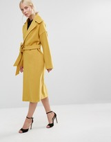 Helene Berman Clutch Coat Mustard
