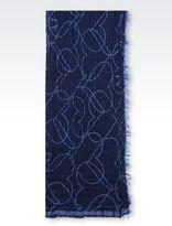 Armani Jeans Heart Print Knit Scarf
