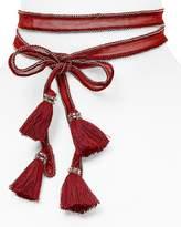 Chan Luu Beaded Chiffon Tassel Necktie