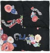 """Saint Laurent floral """"love' print scarf"""