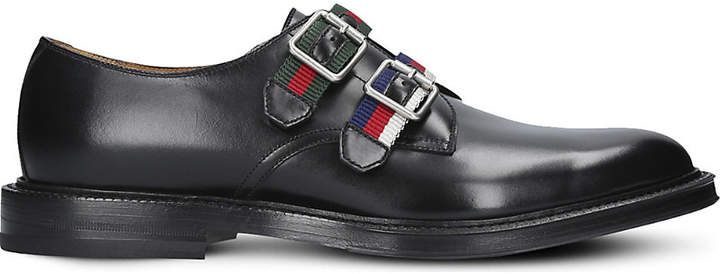 Gucci Beyond strapped leather monk shoes