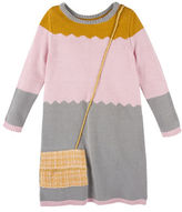 Andy & Evan Girls 2-6x Colorblock Sweater Dress