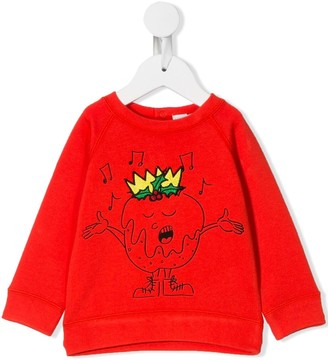 Stella McCartney Kids Christmas pudding sweatshirt