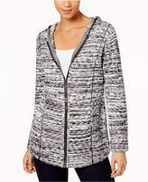Style&Co. Style & Co Marled-Knit Hoodie Sweater, Created for Macy's