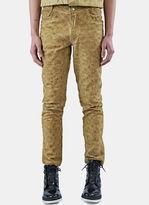 Telfar Men's Embroidered Logo Straight Leg Jeans In Sand