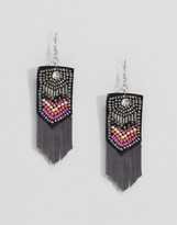 Asos Summer Bead Chevron Drop Earrings