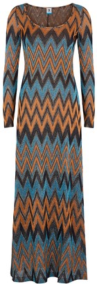 M Missoni Metallic-knit cotton-blend dress