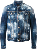 DSQUARED2 paint splatter denim jacket - men - Cotton - 46