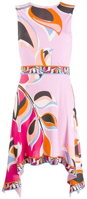 Emilio Pucci Printed Asymmetric Dress