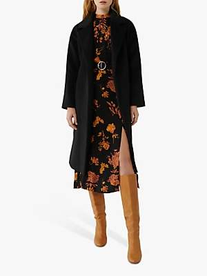 Warehouse Textured Belted Wrap Coat