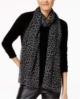 MICHAEL Michael Kors Leopard-Print Plaid Scarf