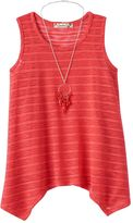Speechless Girls 7-16 Striped Sharkbite Tunic Tank