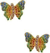 Noir Women's Sao Paulo Butterfly CZ Stud Earrings