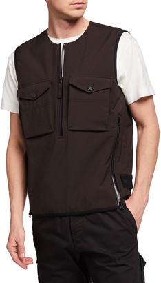 Stone Island Men's Pullover Quarter-Zip Vest
