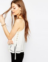 Asos Pretty Lace Tie Side Detail Cami Top