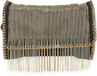 Stella McCartney Falabella Fringe-Chain Crossbody Clutch Bag