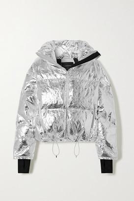 Cordova Mont Blanc Metallic Quilted Down Ski Jacket - Silver