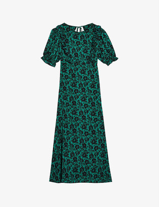 Topshop Daisy floral-print crepe midi dress