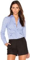 Derek Lam 10 Crosby Long Sleeve Button Down Twist Detail Shirt