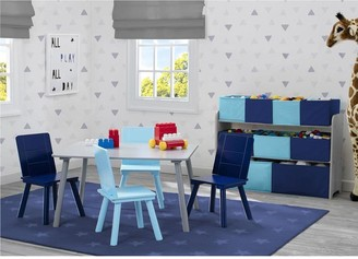 Deluxe Table And 4 Chair Set- Grey/blue