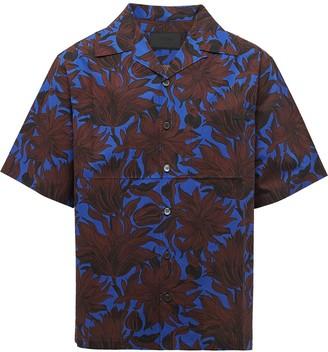 Prada Floral-Print Short-Sleeved Shirt