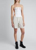 Chloé Strap Crepe de Chine Shorts