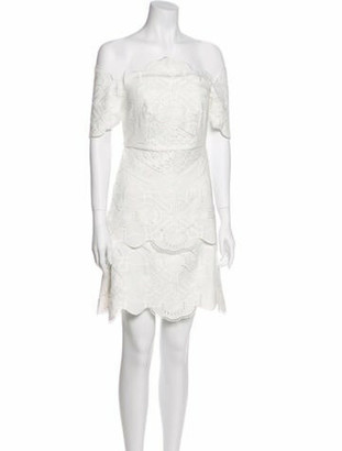 Thurley Lace Pattern Mini Dress w/ Tags White