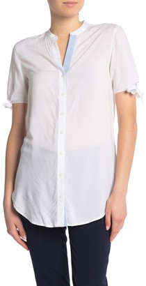 Draper James Bow Sleeve Button Up Top